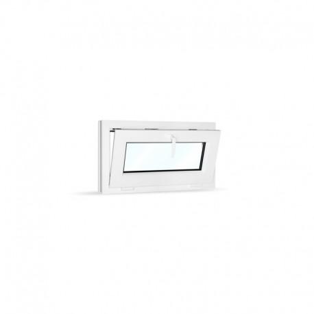 Plastové okno sklopné 75x42 cm (750x420 mm), bílé - sklopené