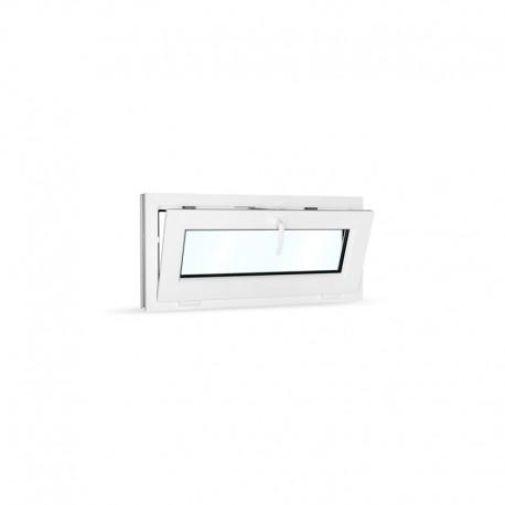 Plastové okno sklopné 90x42 cm (900x420 mm), bílé - sklopené