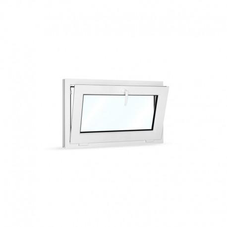 Plastové okno sklopné 90x55 cm (900x550 mm), bílé - sklopené