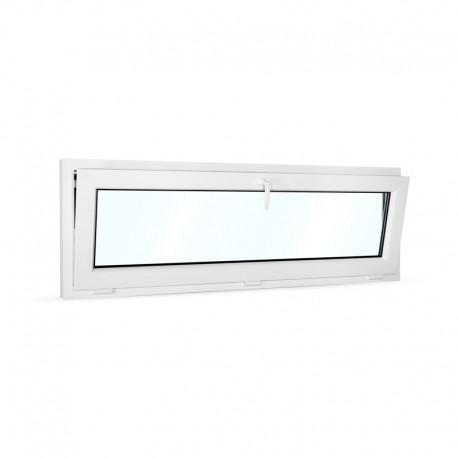 Plastové okno sklopné 160x55 cm (1600x550 mm), bílé - sklopené