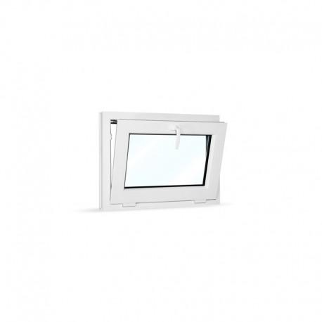 Plastové okno sklopné 75x55 cm (750x550 mm), bílé - sklopené