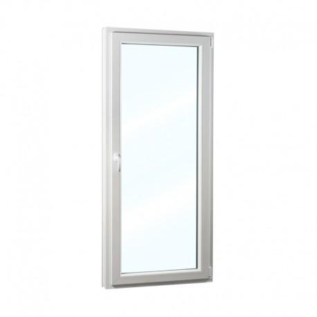 Plastové balkonové dveře jednokřídlé 78x208 cm (780x2080 mm), bílé, otevíravé i sklopné, PRAVÉ