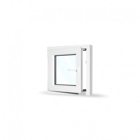 Plastové okno jednokřídlé 65x65 cm (650x650 mm), bílé, otevíravé i sklopné, LEVÉ - otevřené