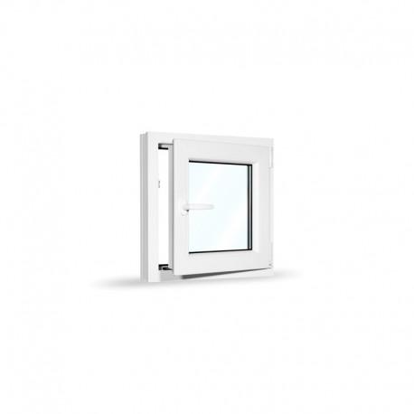 Plastové okno jednokřídlé 65x65 cm (650x650 mm), bílé, otevíravé i sklopné, PRAVÉ - otevřené