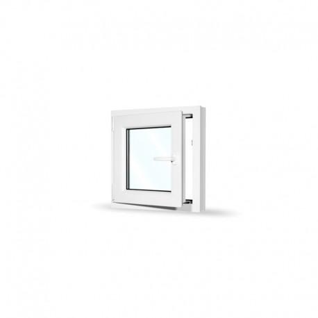 Plastové okno jednokřídlé 60x60 cm (600x600 mm), bílé, otevíravé i sklopné, LEVÉ - otevřené
