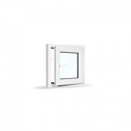 Plastové okno jednokřídlé 60x60 cm (600x600 mm), bílé, otevíravé i sklopné, PRAVÉ - otevřené