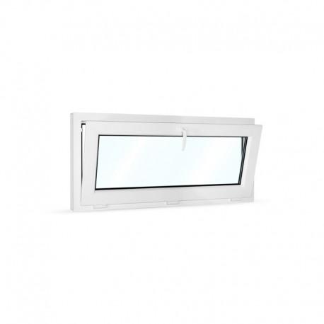 Plastové okno sklopné 120x50 cm (1200x500 mm), bílé - sklopené