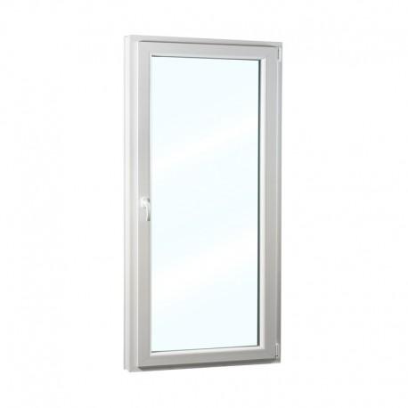 Plastové balkonové dveře jednokřídlé 88x208 cm (880x2080 mm), bílé, otevíravé i sklopné, PRAVÉ