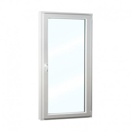 Plastové balkonové dveře jednokřídlé 98x208 cm (980x2080 mm), bílé, otevíravé i sklopné, PRAVÉ