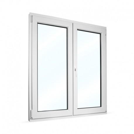 Plastové okno dvoukřídlé se štulpem 125x145 cm (1250x1450 mm), bílé, PRAVÉ