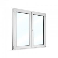 Plastové okno dvoukřídlé se štulpem 125x130 cm (1250x1300 mm), bílé, PRAVÉ