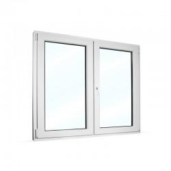 Plastové okno dvoukřídlé se štulpem 135x115 cm (1350x1150 mm), bílé, PRAVÉ