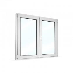 Plastové okno dvoukřídlé se štulpem 125x115 cm (1250x1150 mm), bílé, PRAVÉ