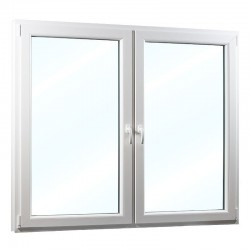 Plastové okno dvoukřídlé se sloupkem 178x154 cm (1780x1540 mm), bílé, PRAVÉ