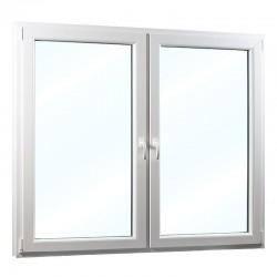 Plastové okno dvoukřídlé se sloupkem 208x154 cm (2080x1540 mm), bílé, PRAVÉ