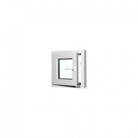 Plastové okno jednokřídlé 50x50 cm (500x500 mm), bílé, otevíravé i sklopné, LEVÉ - otevřené