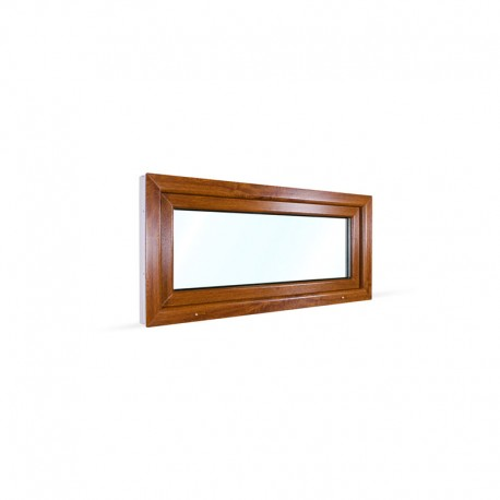 Sklopné plastové okno 120x55 cm (1200x550 mm), bílá|zlatý dub - pohled z exteriéru