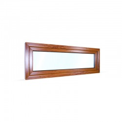 Sklopné plastové okno 160x55 cm (1600x550 mm), bílá|zlatý dub - pohled z exteriéru