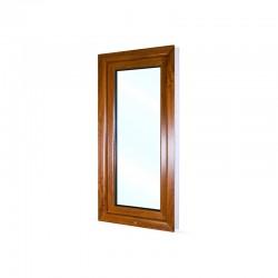 Jednokřídlé plastové okno 60x120 cm (600x1200 mm), bílá|zlatý dub, otevíravé i sklopné, LEVÉ - pohled z exteriéru