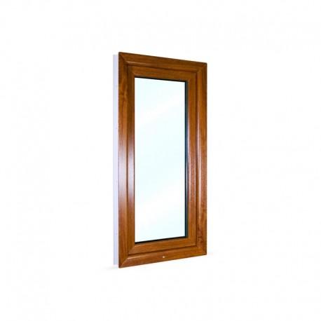 Jednokřídlé plastové okno 60x120 cm (600x1200 mm), bílá|zlatý dub, otevíravé i sklopné, PRAVÉ - pohled z exteriéru