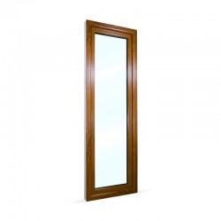Francouzské okno na terasu - balkonové dveře 68x208 cm (680x2080 mm), bílá|zlatý dub, PRAVÉ - pohled z exteriéru