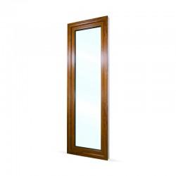 Francouzské okno na terasu - balkonové dveře 68x208 cm (680x2080 mm), bílá|zlatý dub, LEVÉ - pohled z exteriéru