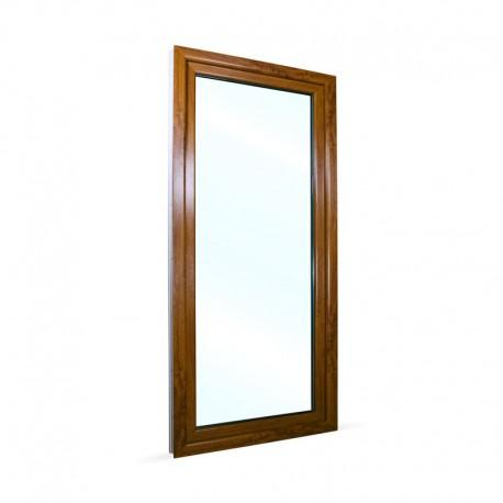 Francouzské okno na terasu - balkonové dveře 98x208 cm (980x2080 mm), bílá|zlatý dub, PRAVÉ - pohled z exteriéru