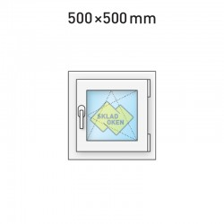 Plastové okno jednokřídlé 500 x 500 mm - pravé