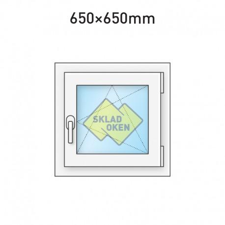 Plastové okno jednokřídlé 650 x 650 mm - pravé