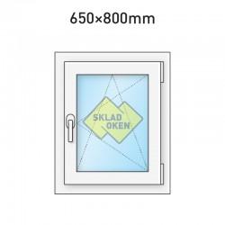 Plastové okno jednokřídlé 650 x 800 mm - pravé
