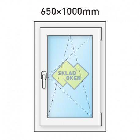 Plastové okno jednokřídlé 650 x 1000 mm - pravé