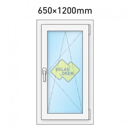 Plastové okno jednokřídlé 650 x 1200 mm - pravé