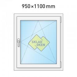 Plastové okno jednokřídlé 950 x 1100 mm - pravé