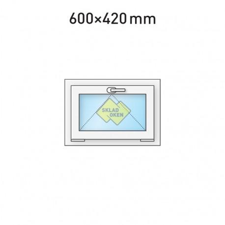 Plastové okno sklopné 600 x 420 mm