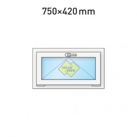 Plastové okno sklopné 750 x 420 mm