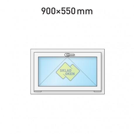 Plastové okno sklopné 900 x 550 mm