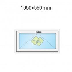 Plastové okno sklopné 1050 x 550 mm