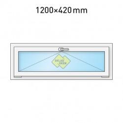 Plastové okno sklopné 1200 x 420 mm