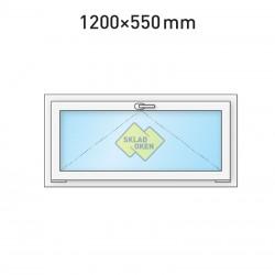 Plastové okno sklopné 1200 x 550 mm