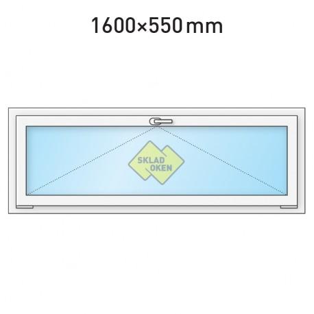Plastové okno sklopné 1600 x 550 mm