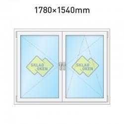 Plastové okno dvoukřídlé se sloupkem 1780 x 1540 mm