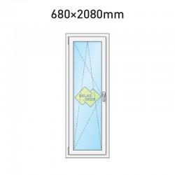 Balkonové dveře jednokřídlé 680 x 2080 mm - levé