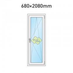 Plastové balkonové dveře jednokřídlé 680 x 2080 mm - pravé