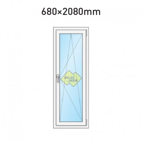 Balkonové dveře jednokřídlé 680 x 2080 mm - pravé