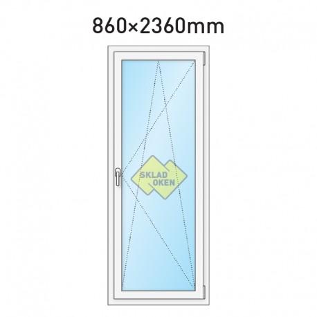 Plastové balkonové dveře jednokřídlé 860 x 2360 mm - pravé