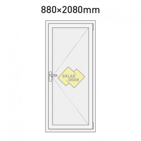 Plastové vchodové dveře vedlejší plné 880 x 2080 mm - pravé