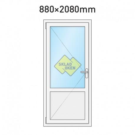 Plastové vchodové dveře vedlejší dělené 880 x 2080 mm - levé