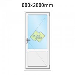 Plastové vedlejší vchodové dveře dělené 880 x 2080 mm - otvíravé pravé