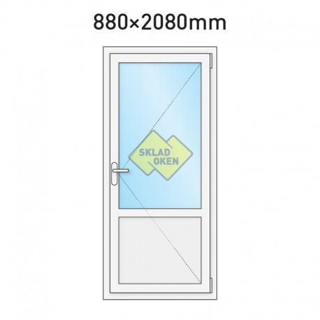 Plastové vchodové dveře vedlejší dělené 880 x 2080 mm - pravé