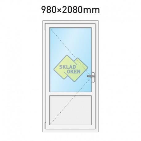 Plastové vchodové dveře vedlejší dělené 980 x 2080 mm - levé